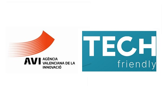Logos Tech Friendly y Agencia Valenciana de la Innovación AVI